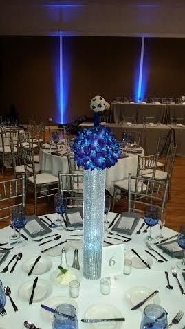 blue dendro centerpiece
