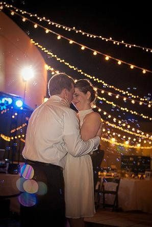 Bubbles and Market lights for a last dance. :)