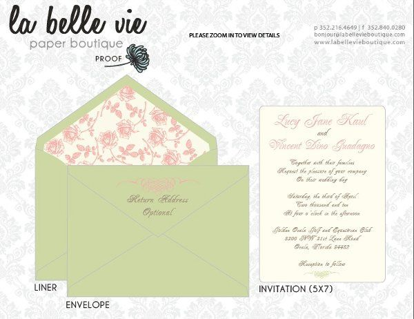 colored envelopes and patterned liners help enhance the design of your wedding invitations