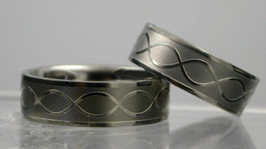 His/her Wedding band set , infinity knot design symbolizes your commitment& love to each other.