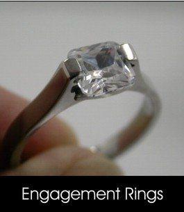 1.5Carat Post modern design engagement ring in Pure titanium.