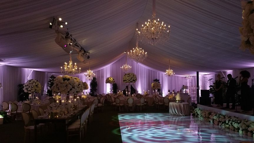 Lighting for the reception tent