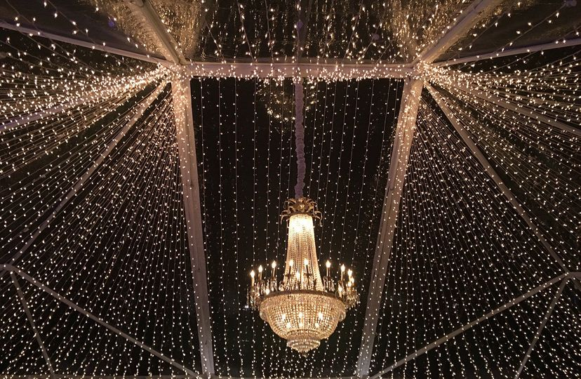 Hanging lights and chandelier