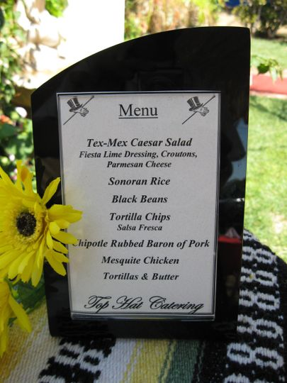 All the great choices in our Fiesta Menu