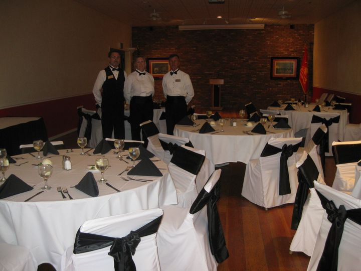 Elegant black and white reception