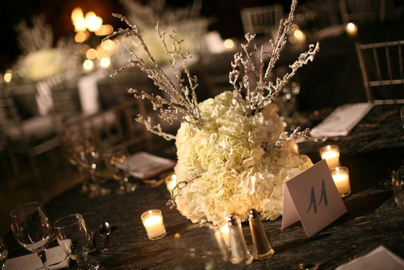 Table number and centerpiece