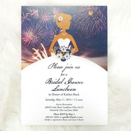 Bridal Shower luncheon invitation
