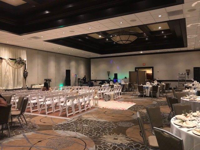 Wedding ceremony area