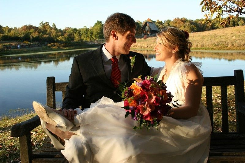 Groom and Bride in Fall