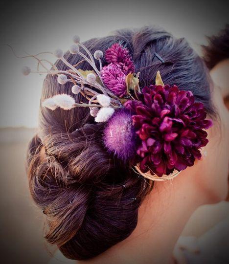 purpleflowerheadpiece