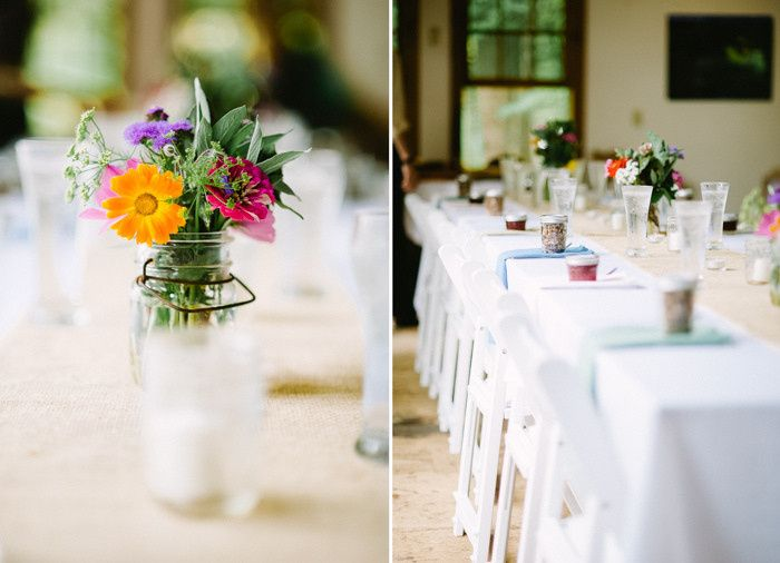Simple rustic set up in the Berkshires.  Photo by Shelby Brakken Photography
