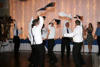 Groom and Groomsmen having a bit of fun