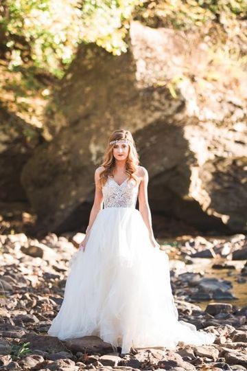 Bride's portrait outdoors