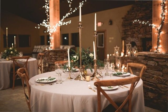 Table set-up in a rustic style