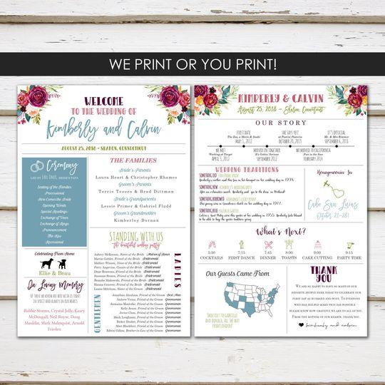Sample E-invitation with flower border