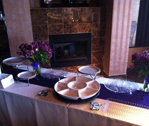Buffet table setup