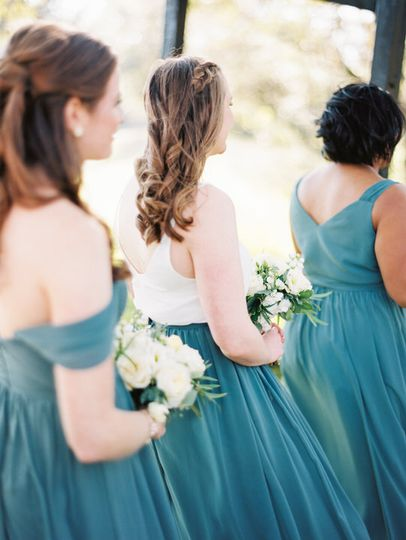 Bridesmaids at ceremony