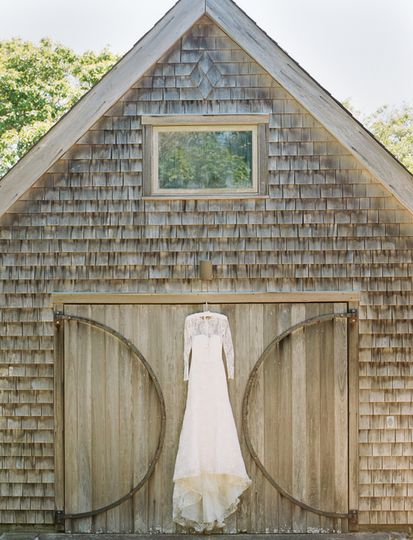 Dress hangs from A-Frame