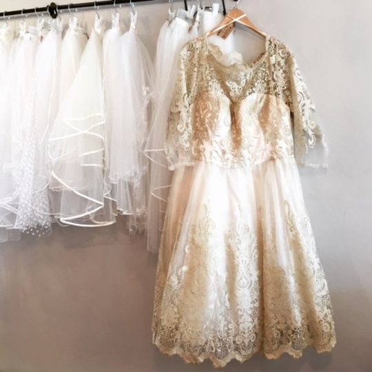 champagne short gown