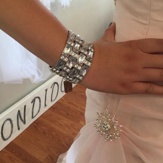 bracelet and side of pink demetrios