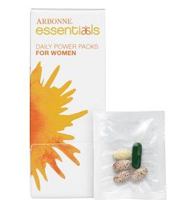 Arbonne Essentials: Powerpacks for Men or Women.  Packed with multivitamins, probiotics and enzymes.