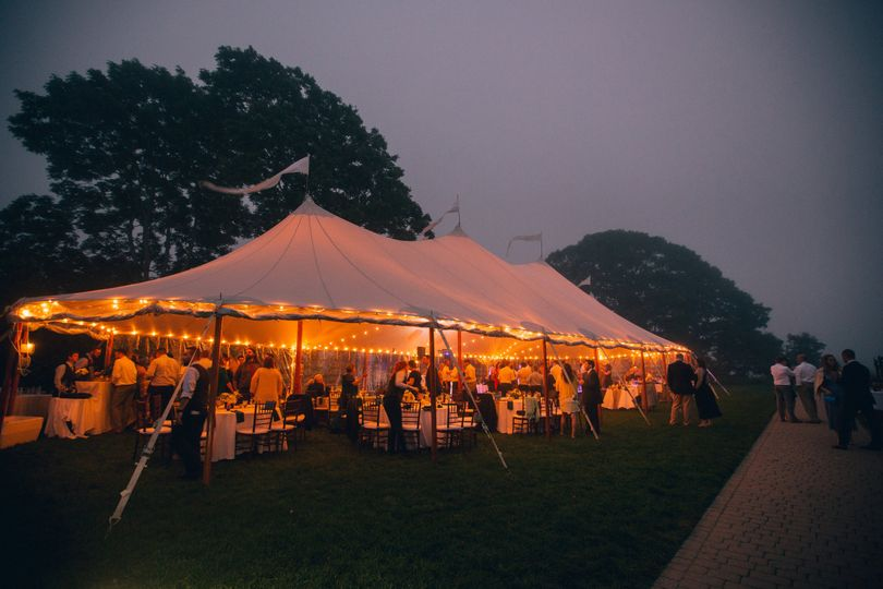 Tented wedding