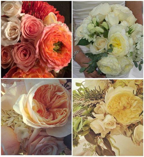 bridal bouquets garden roses