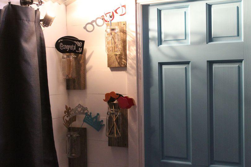Soft blue door