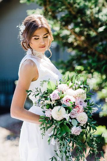 CCF Cascading Bridal Bouquet