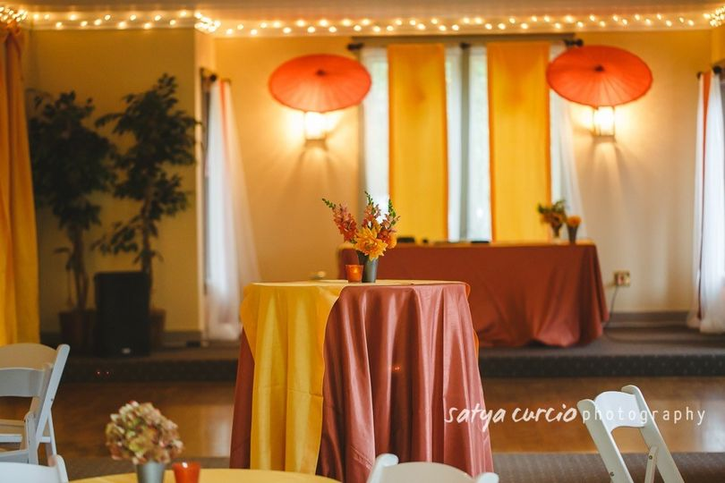 Indian meets French in the Pacific Northwest with lights and fabrics