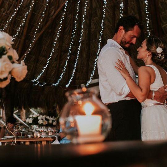 Newlyweds dance the evening away