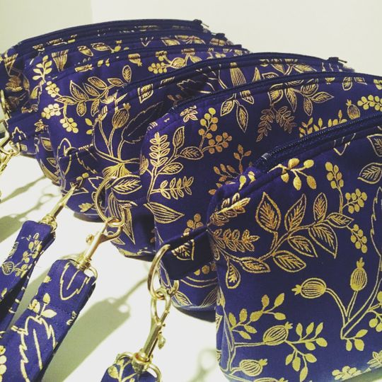 rifle navy gold clematis clutch