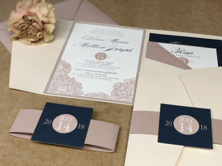 Old rose invitation