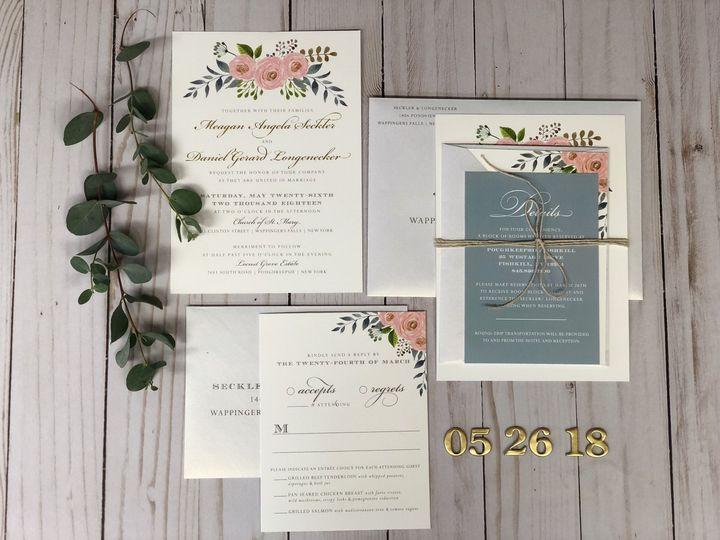 Teal invitation