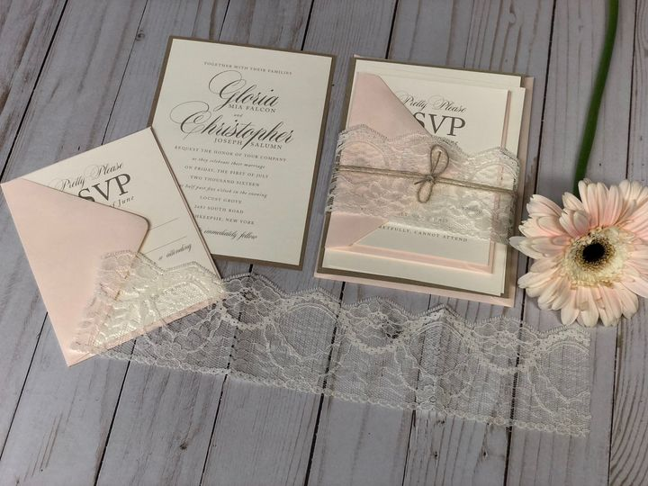 Baby pink invitation