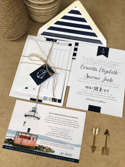 Sailor themed invitation