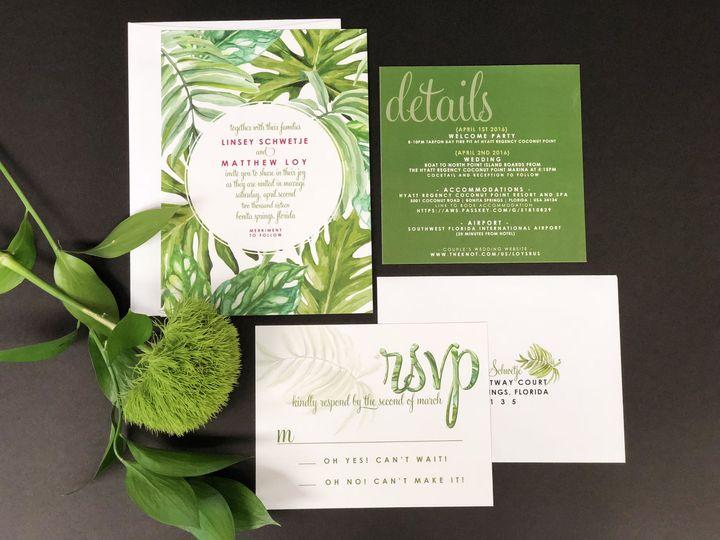 Plant themed invitation