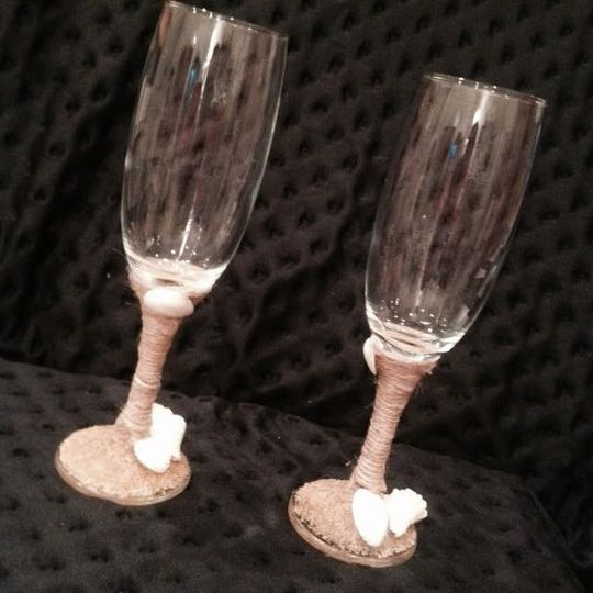 Champagne Flutes for a Beach Wedding!