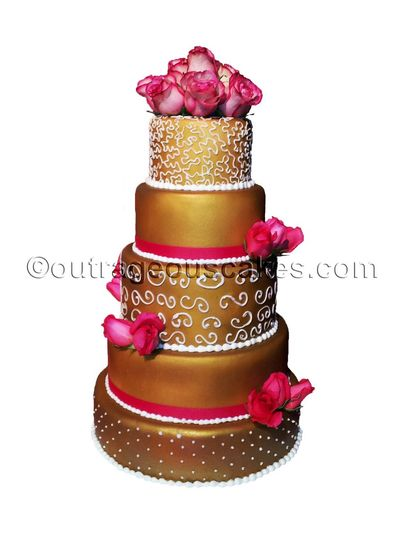 outrageous cakes wedding cake tampa fl weddingwire. Black Bedroom Furniture Sets. Home Design Ideas