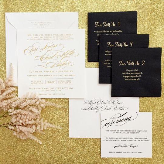 ann elizabeth print studio invitations salt lake city With wedding invitation printing salt lake city