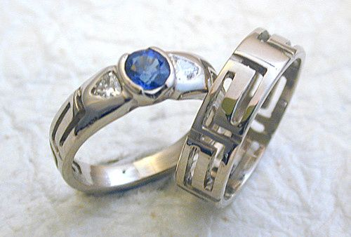 Blue stone with matching band
