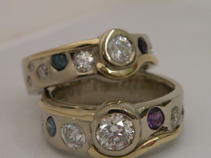 Tmx 1396232896717 2diamondmultiring Eugene, OR wedding jewelry