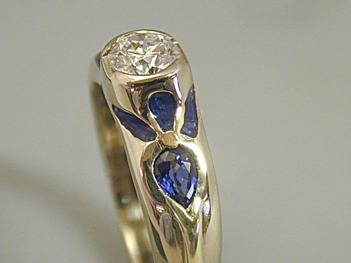 Tmx 1396578321740 Diasapphirisengagemen Eugene, OR wedding jewelry