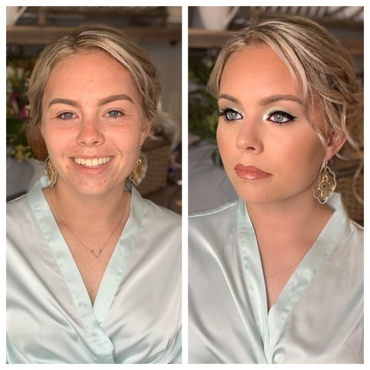 Before and After Glowing