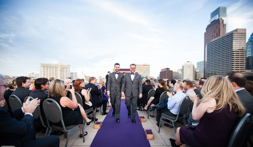 Rooftop Deck ceremony