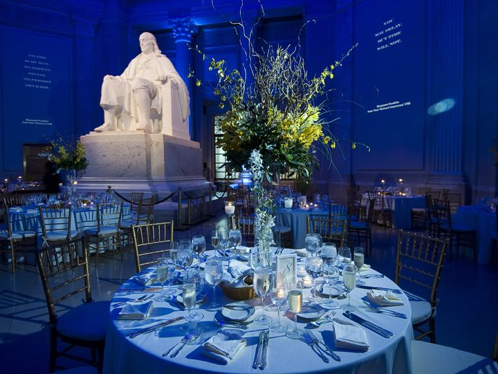 Tmx 1458315028983 Table Setting In Franklin Hall Philadelphia, PA wedding venue