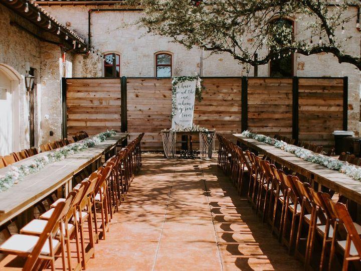 Tmx Courtyard Reception Farm Tables 51 991003 1562013601 Georgetown, TX wedding venue