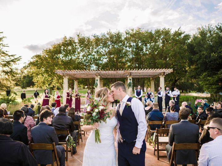 Tmx Sabrina Chris Just Married Kiss 51 991003 V1 Georgetown, TX wedding venue