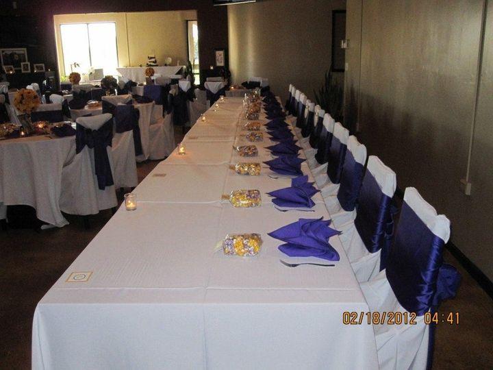 purple head table