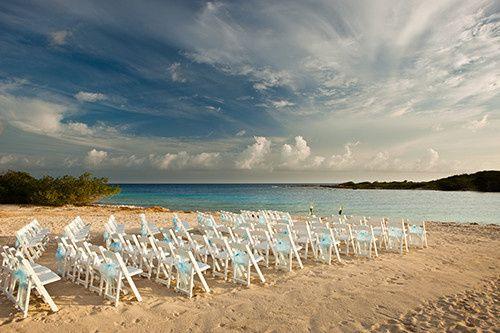 beach wedding set up small